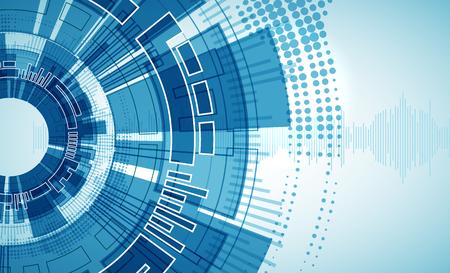 digital background: Technology futuristic digital background. Vector illustration Illustration