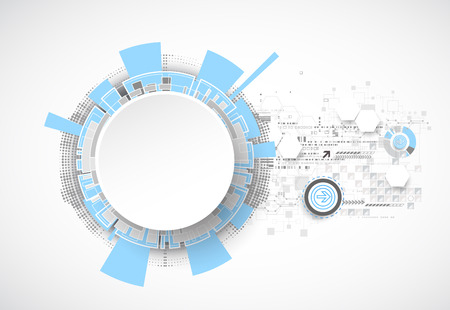 computer scientist: Technology futuristic digital background. Vector illustration Illustration