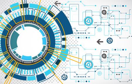Tecnologia digitale futuristico. Illustrazione vettoriale