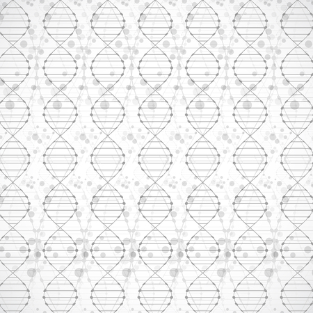 nucleotide: Science template, wallpaper or banner with a DNA molecules. Vector illustration.