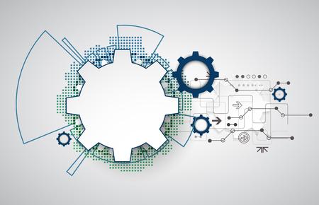 electronics industry: Abstract technology background. Cogwheels theme. Vector illustration Illustration