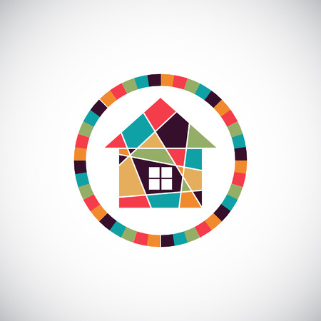 realty: House abstract real estate vector background. Realty theme icon. Illustration