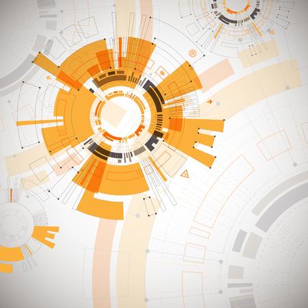 Vector pattern: Tóm tắt có màu cam nền công nghệ với các yếu tố công nghệ Vaus. Cấu trúc mô hình công nghệ nền. vector