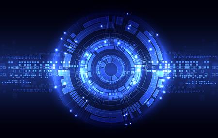 Abstrakte blaue digitale Kommunikations-Technologie Hintergrund. Illustration