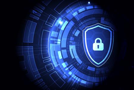 デジタルと技術の保護の概念。機構、システムのプライバシーを守るため、ベクトル イラスト 写真素材 - 56575868