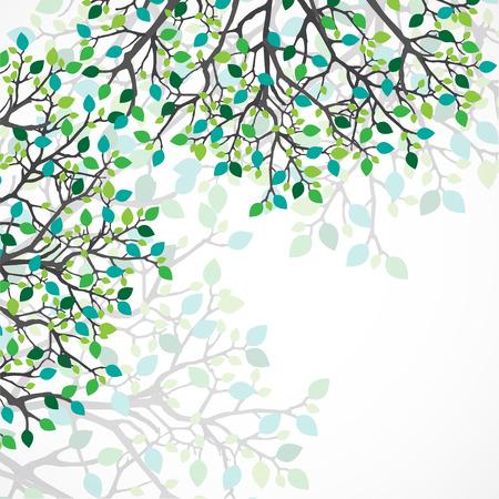 Abstract nature background. Vector tree. Illusztráció