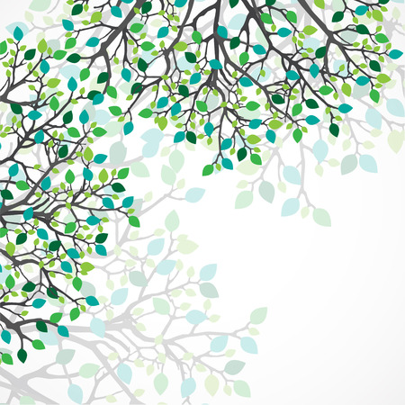 Abstract nature background. Vector tree. Vettoriali