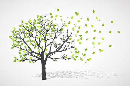 Abstrakte Natur Hintergrund. Vector Baum. Vektorgrafik