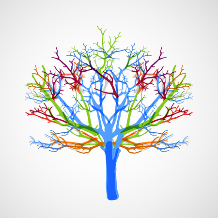 colorful tree: Abstract colorful tree. Vector background.