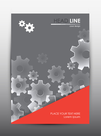 advertising design: Brochure design template. Cover presentation background. Vector illustration.