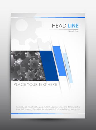 Brochure design template. Bedek presentatie achtergrond. Vector illustratie.