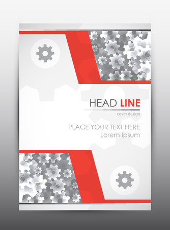 advert: Brochure design template. Cover presentation background. Vector illustration.