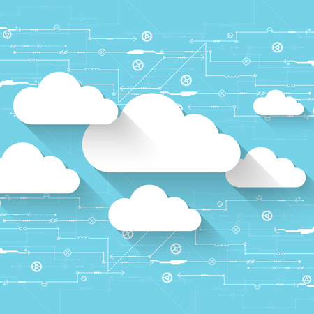 cloud technology: Web cloud technology business abstract background. Vector Illustration