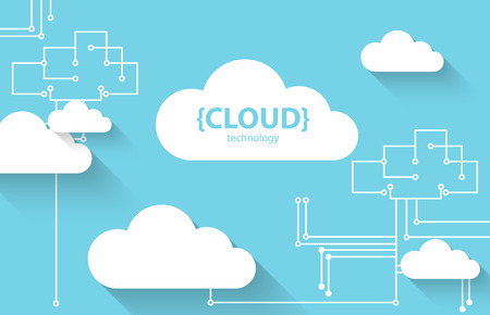 Web cloud technology business abstract background. Vector Vettoriali
