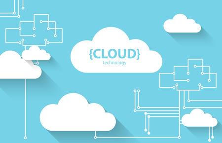 Web cloud technology business abstract background. Vector Illusztráció
