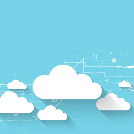 technology abstract background: Web cloud technology business abstract background. Vector Illustration