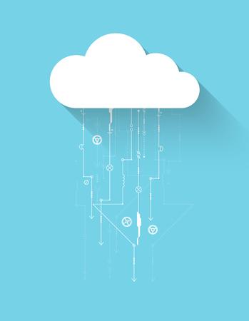 la technologie cloud Web entreprise de fond abstrait. Vecteur