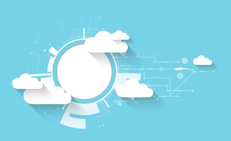 nube de tecnología web de negocios resumen de antecedentes. Vector
