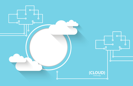 business technology: Web cloud technology business abstract background. Vector Illustration