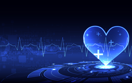 Abstract medical background. Cardiogram theme. Çizim