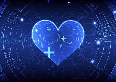 medical abstract: Abstract medical background. Cardiogram theme. Illustration