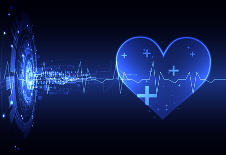 cardiogram: Abstract medical background. Cardiogram theme. Illustration