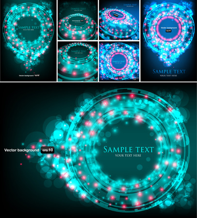 covet: Set of abstract technology backgrounds. Vector