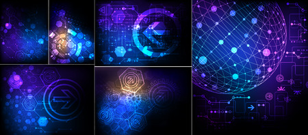 dynamic: Abstract technological background. Vector Illustration