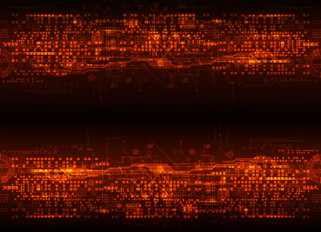 high technology: Abstract futuristic circuit board, Illustration high computer technology dark color background. Illustration