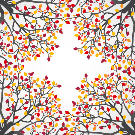 abstract tree: Abstract nature background. Vector tree. Illustration