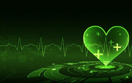 electrocardiograma: abstracta antecedentes médicos. cardiograma tema.