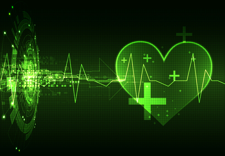 Abstract medical background. Cardiogram theme. Illustration