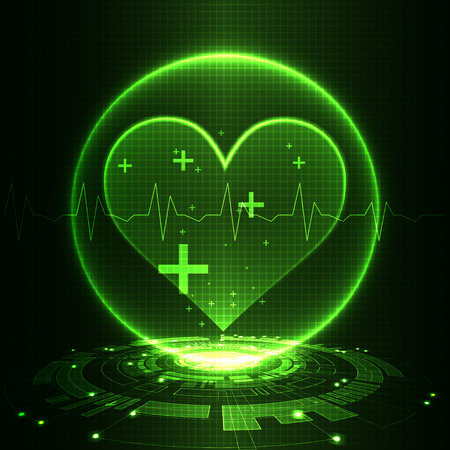 cardiograph: Abstract medical background. Cardiogram theme. Illustration