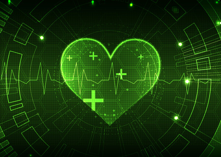 pulsating: Abstract medical background. Cardiogram theme. Illustration