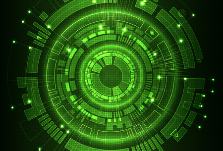 Abstract green digital communication technology background. Vector illustration