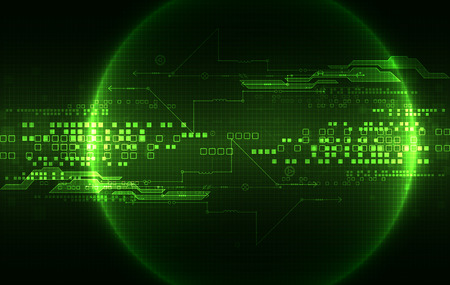 green technology: Abstract green digital communication technology background. Vector illustration