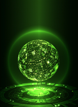 Abstract green digital communication technology background. Vector illustration 版權商用圖片 - 61023324