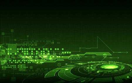 Abstrakte grüne digitale Kommunikationstechnologie Hintergrund. Vektor-Illustration Vektorgrafik