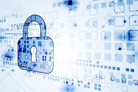 Concept de protection du numérique et de la technologie. Confidentialité du système Illustration vectorielle