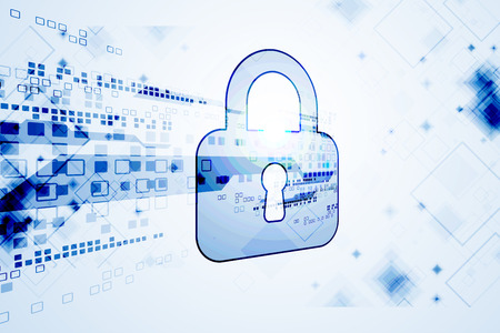 decryption: Protection concept of digital and technological. System privacy. Vector illustration Illustration