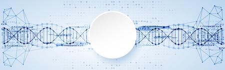 Science template, DNA molecules background. Vector illustration. Vektoros illusztráció