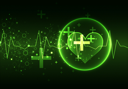 stress test: Abstract medical background. Cardiogram theme. Illustration