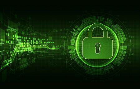 Schutzkonzept von digitalen und technologischen. Schützen Mechanismus, System Privatsphäre, Vektor-Illustration