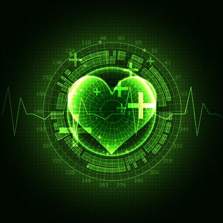 rhythm: Abstract medical background. Cardiogram theme. Illustration
