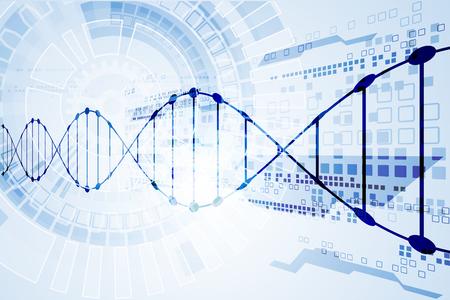 cromosoma: plantilla Science, moléculas de ADN de fondo. Ilustración del vector. Vectores