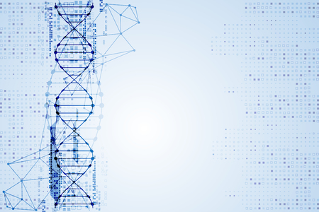 dna graph: Science template, DNA molecules background. Vector illustration.