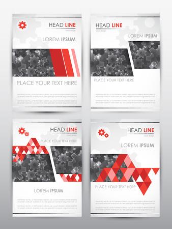 brochure cover design: Brochure design template.  Set of Cover presentation backgrounds. Vector illustration.