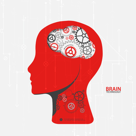 creative brain: Creative brain concept background. Artificial Intelligence concept. Vector science illustration