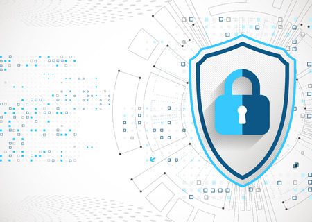 shielding: Protection concept. Protect mechanism, system privacy. Vector illustration