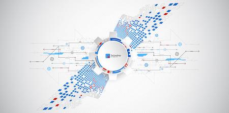 Fondo tecnológico abstracto. Estructurar patrón cuadrado. Vector Ilustración de vector
